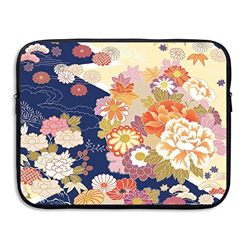 Too Suffering Protective Case Waterproof Computer Portable Bags Traditional Kimono Motifs Composition Notebooks 13inch And ()
