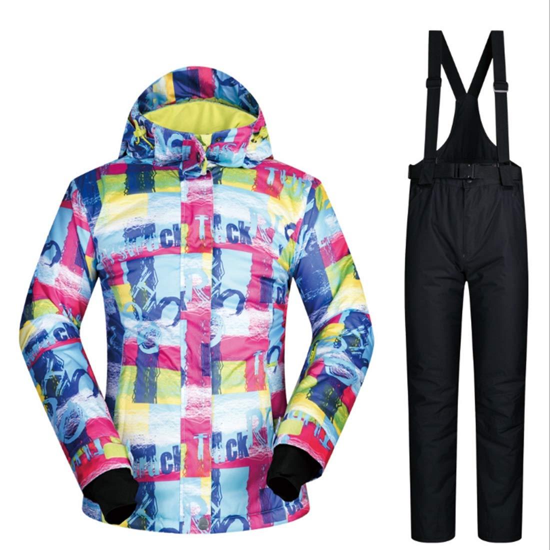 2 Sububblepper Women's Ski Jacket Snowboard Waterproof Windproof Snow Jacket for Rain Snow Outdoor Hiking (color   06, Size   L)
