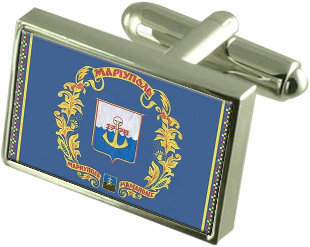 Select Gifts Mariupol City Ukraine Flag Cufflinks
