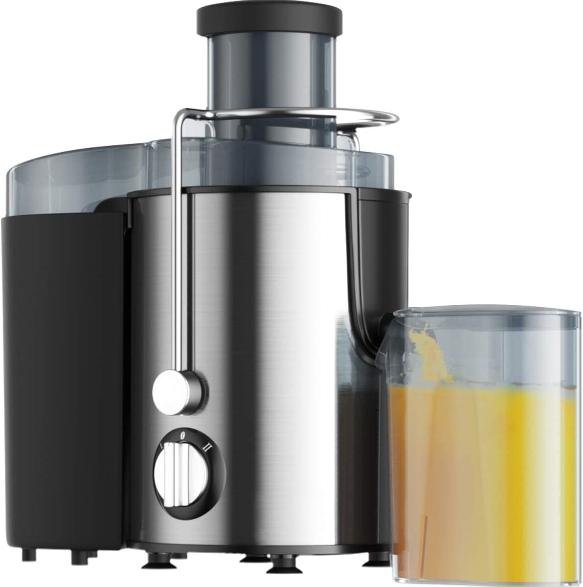 Juicer Wide Mouth Juice Extractor, Juicer Machines BPA Free Compact Fruits & Vegetables Juicer, Dual Speed Centrifugal Juicer with Anti-drip Function, Stainless Steel Juicers Easy to Clean (Silver)