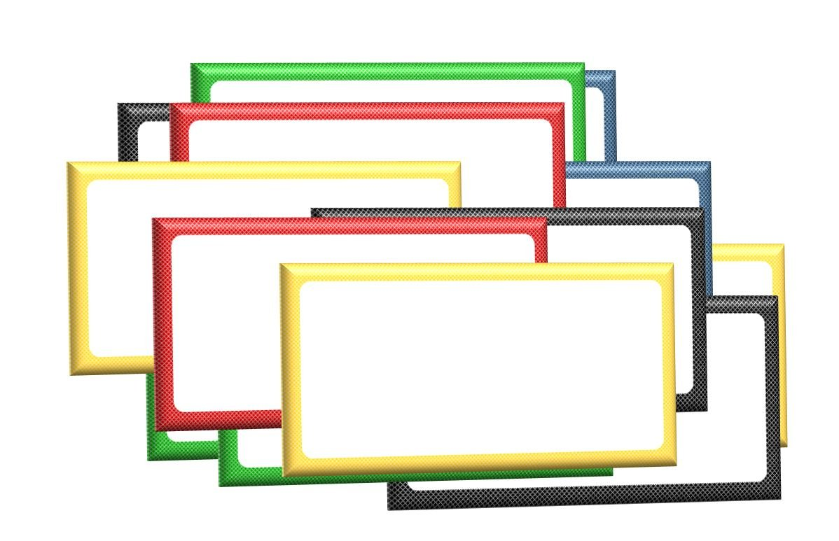 """1"""" x 2"""" Magnetic Labels White Board Accents 30 Labels 5 Colors."""