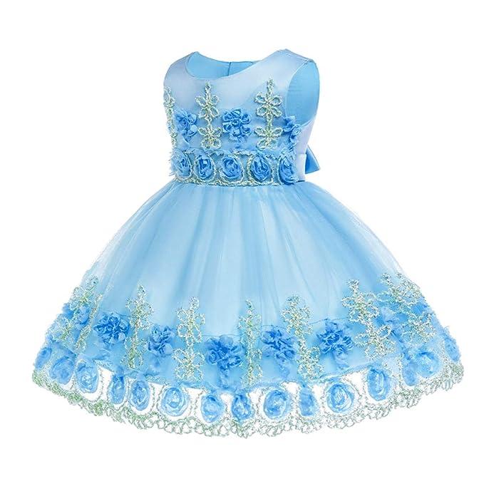 36fbc851a3 KINDOYO Vestido de Fiesta - Princesa de la Moda del Bebé Tutu Vestido de  Tul Regalos de Fiesta para Niños  Amazon.es  Ropa y accesorios