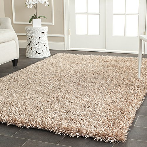Rectangle Shag Beige Color - 4