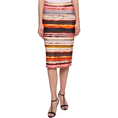 6e820321f1 Tommy Hilfiger Womens Scuba Sunset Striped Pencil Skirt at Amazon Women's  Clothing store: