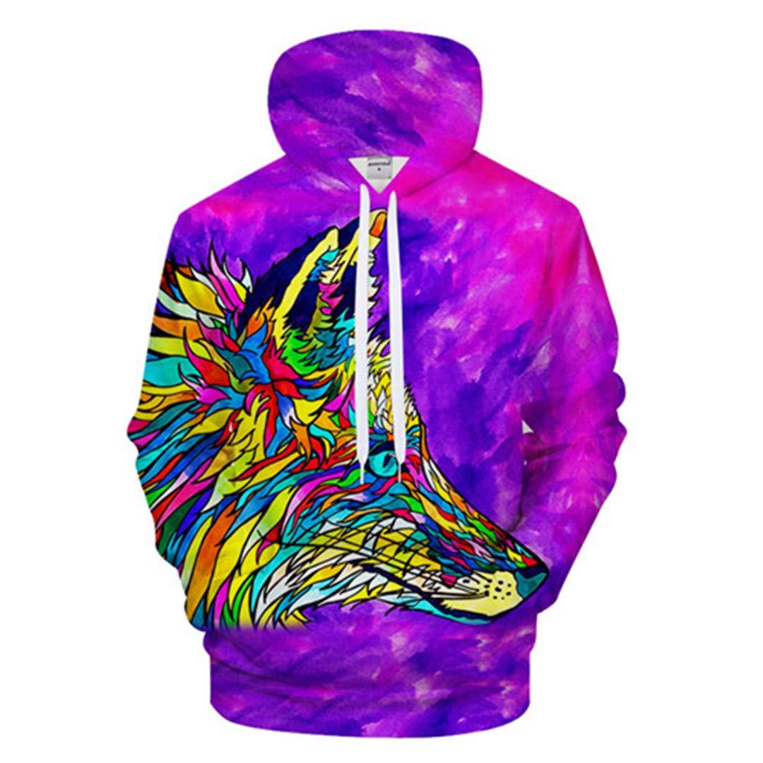 W-vicioer 3D Animal Print Men Women Sweatshirt Streatwear Hoody Tracksuit Pullover