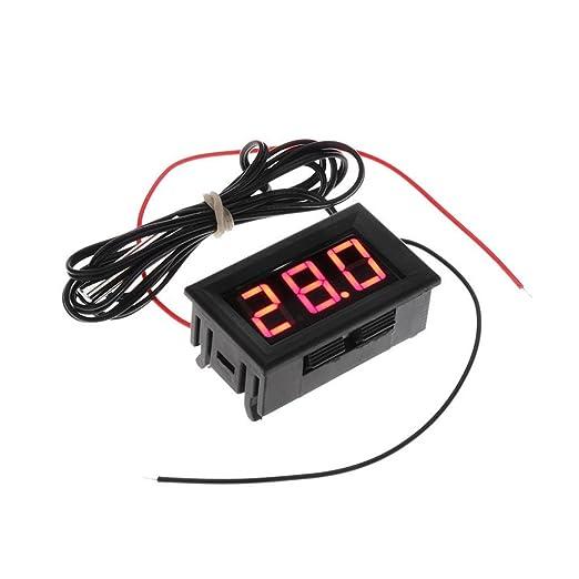 Segolike Digital LCD Fridge Aquarium Thermometer Temperature Meter Gauge Tester Monitor - red, 4.5 * 2.8 * 2cm