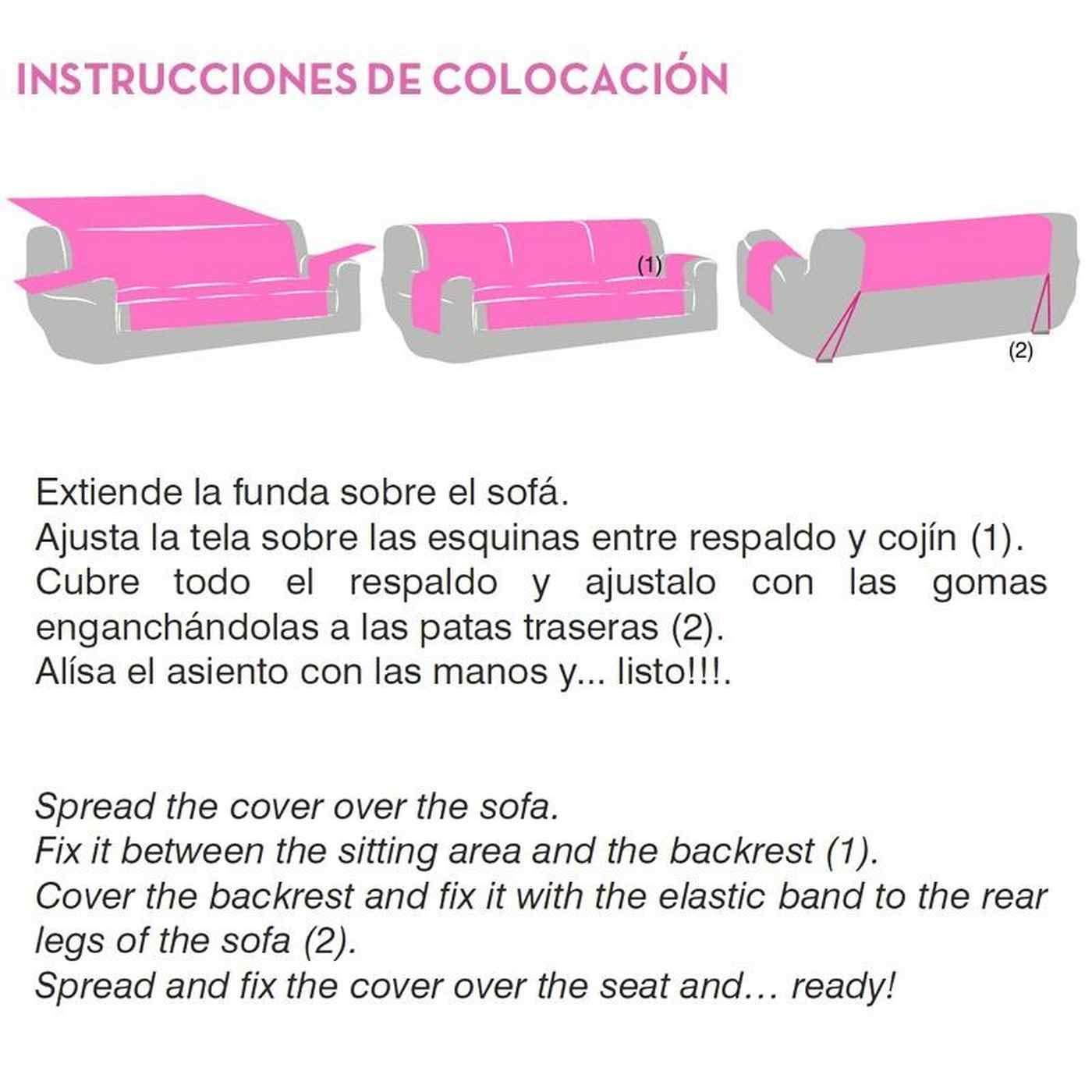 Jarrous Funda Cubre Sofá Práctica Impermeable Modelo Córdoba, Color Crudo-00, Medida 2 Plazas – 110cm de Respaldo