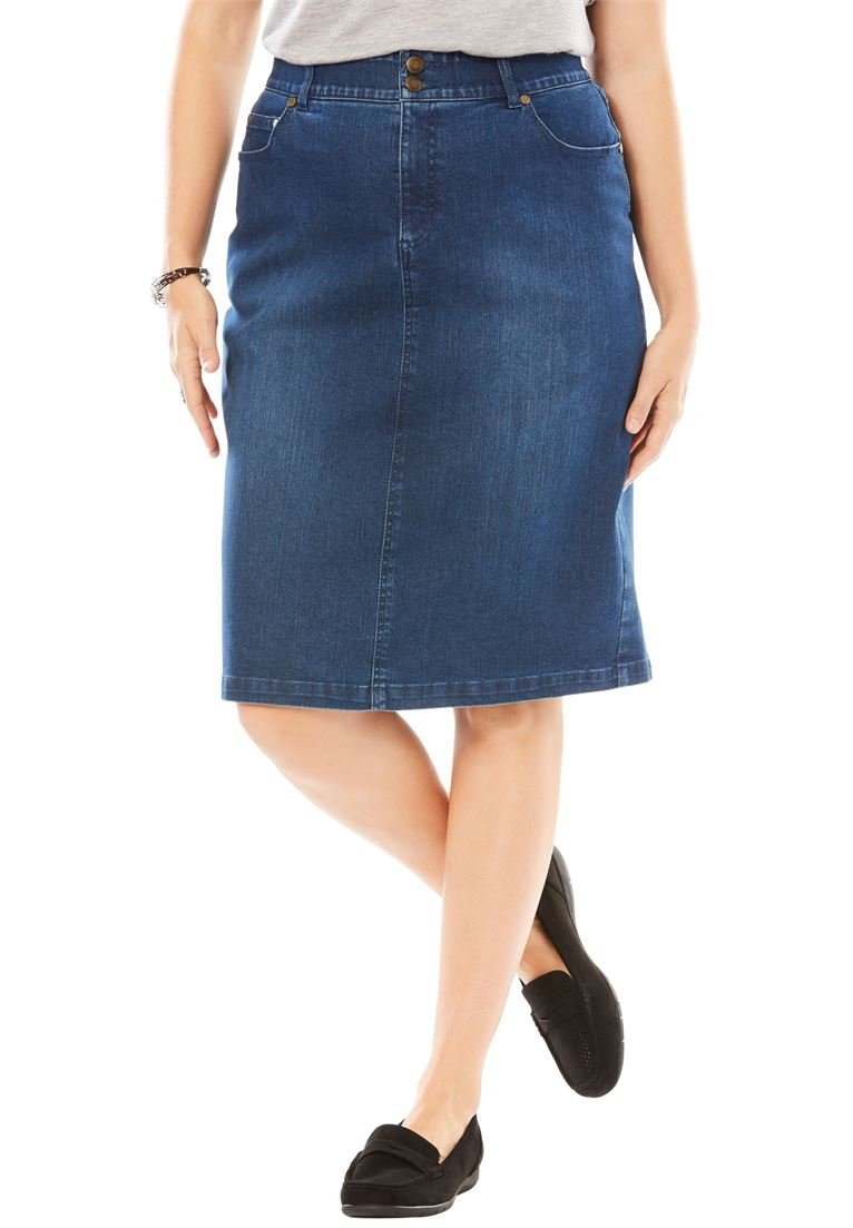 Woman Within Women's Plus Size Tummy Tamer Skirt by Woman Within (Image #1)