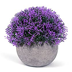 Vangold Lifelike Artificial Plants Plastic Grass Plants with Pots for Home/Office Decor