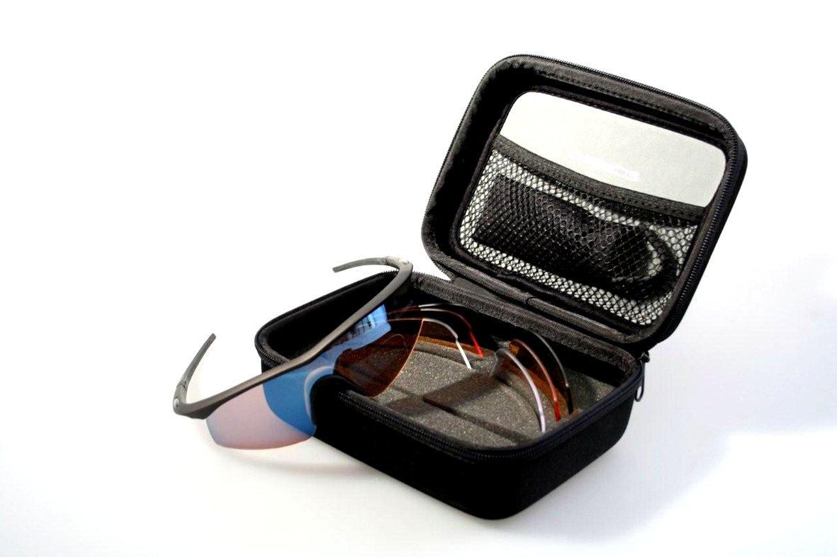 4f08472ecbc Madison Mens D Arcs Compact Triple Glasses Set  Amazon.co.uk  Sports ...