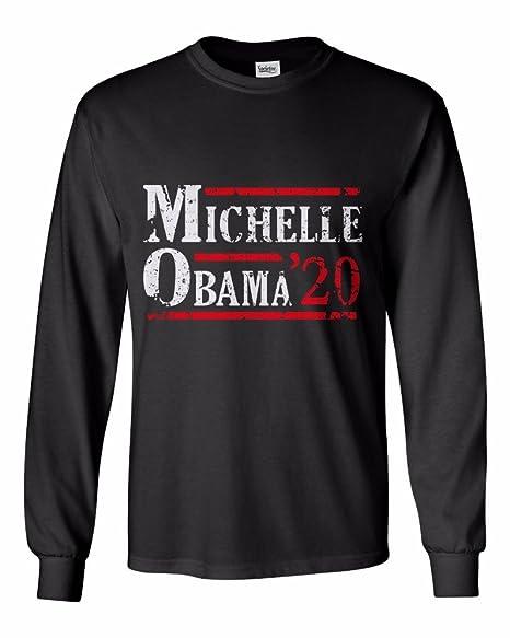 e340506e Amazon.com: Michelle Obama For President 2020 Long Sleeve - Men's T-Shirt:  Clothing