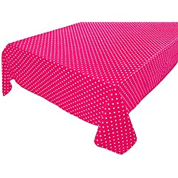 Cotton Table Cloth with Polka Dots