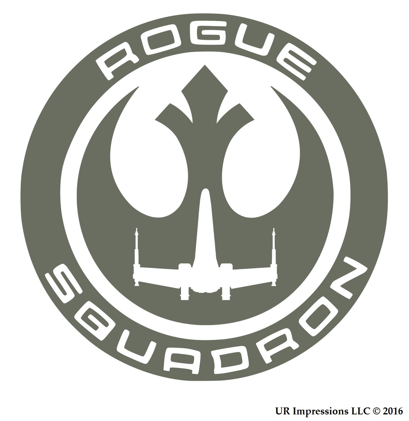 Gry Rogue Squadron Star Wars Inspiredデカールビニールsticker|cars Trucks壁laptop|gray|5.5 in|uri457   B0762CDK8V