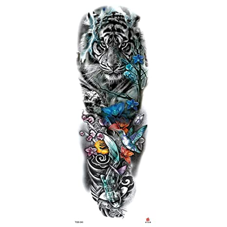 Handaxian Pegatinas de Tatuaje Original Flor Brazo ...