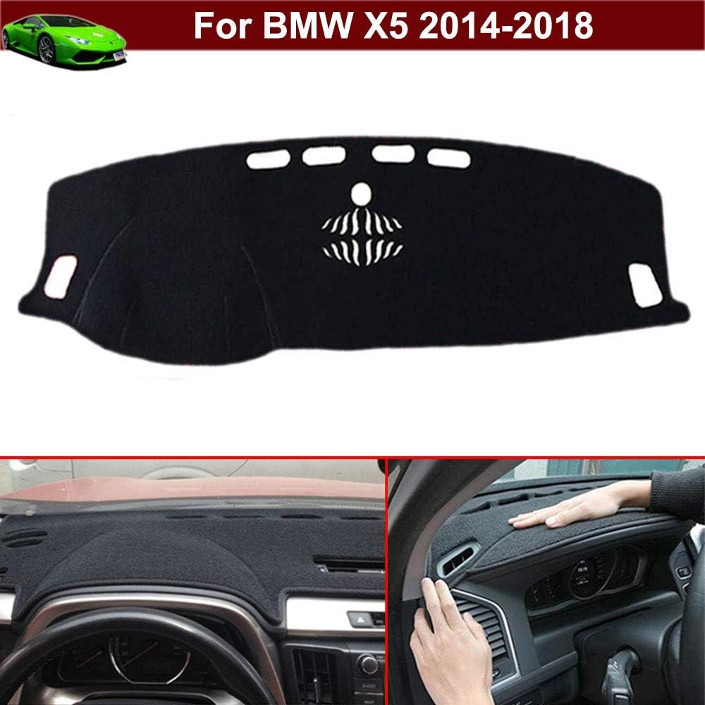 New 1pcs Black Non-Slip Dash Mat Dashboard Mat Dash Carpet Dash Covers Dashboard Cover Custom Fit for BMW X5 2014 2015 2016 2017 2018