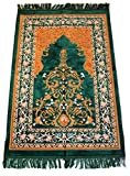 Islamic Prayer Rugs Made in Turkey with Fine Velvet Superior Quality (Green)