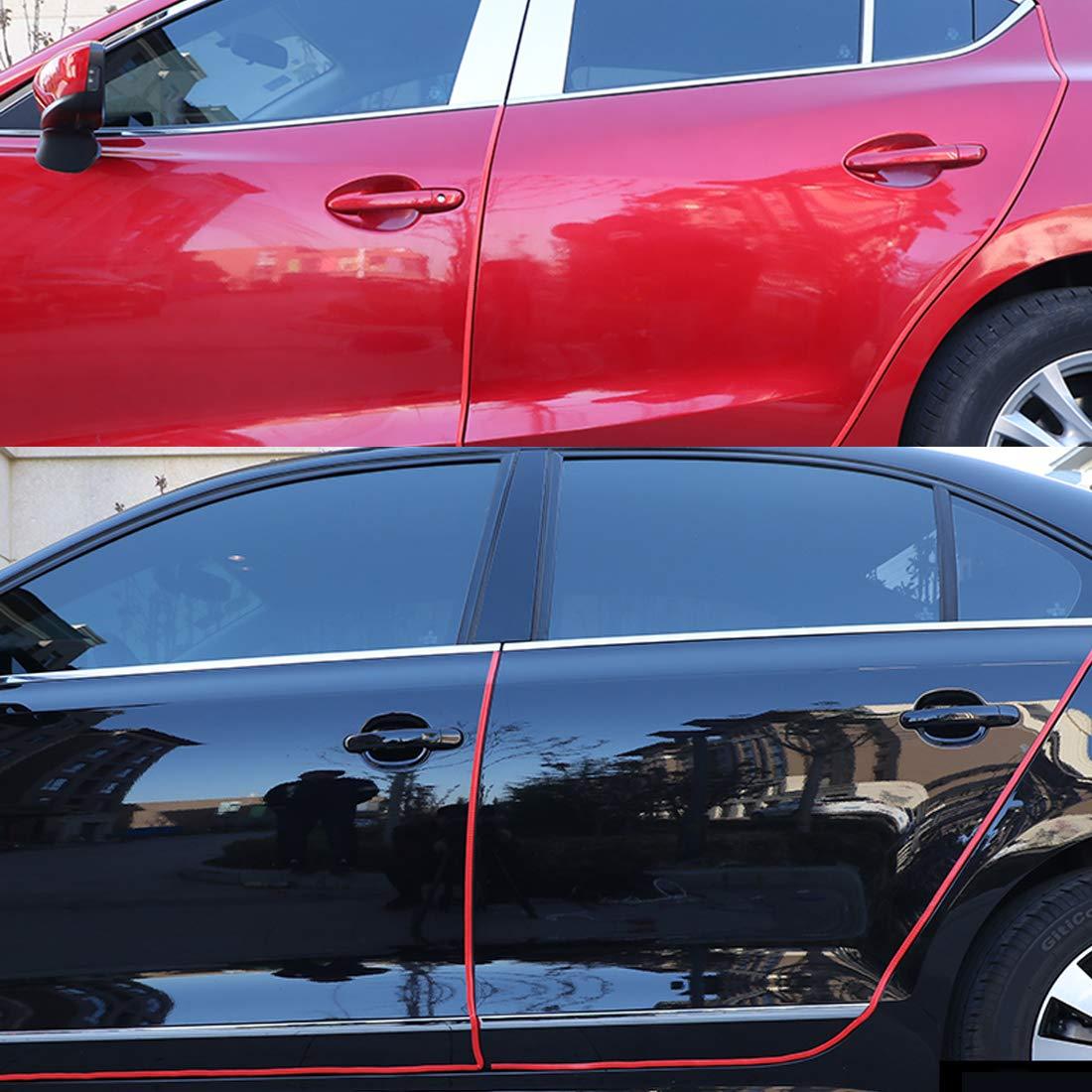 SEAMETAL Rubber Car Door Guards Protector Edge 32ft Red