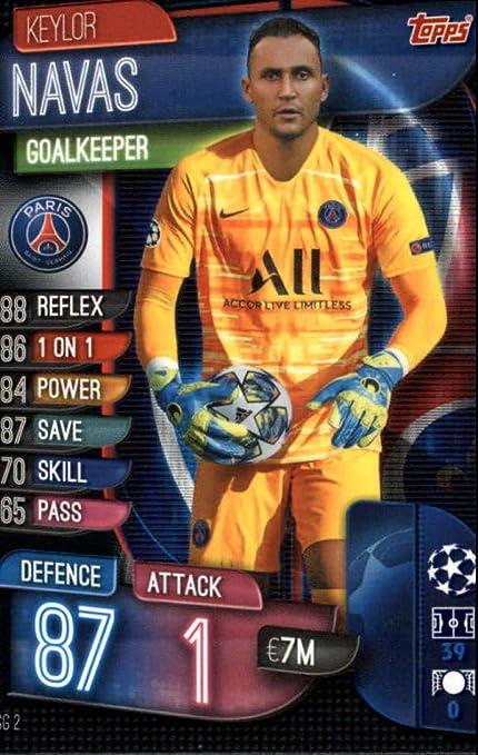 Topps Living set UEFA Champions League 1x #197 keylor navas Paris Saint-Germain