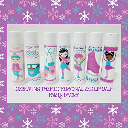 Iceskating Themed Personalized Lip Balm Party Favors - Figur