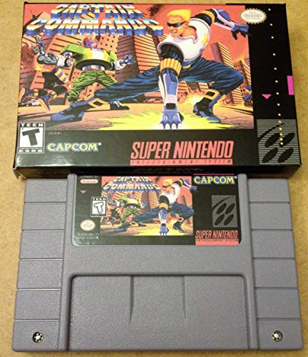 Captain Commando - (Super Nintendo, SNES) Reproduction Game Cartidge with Replica Miniature Box
