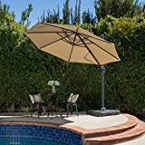 Denise Austin Home Bay Outdoor 9.8-Foot Canopy Umbrella with Base