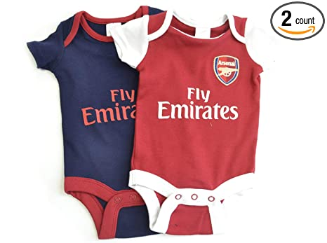 fdb56ab04 Amazon.com  Arsenal FC - Authentic Cute Baby Body Suits 2 Pack (0-3 ...