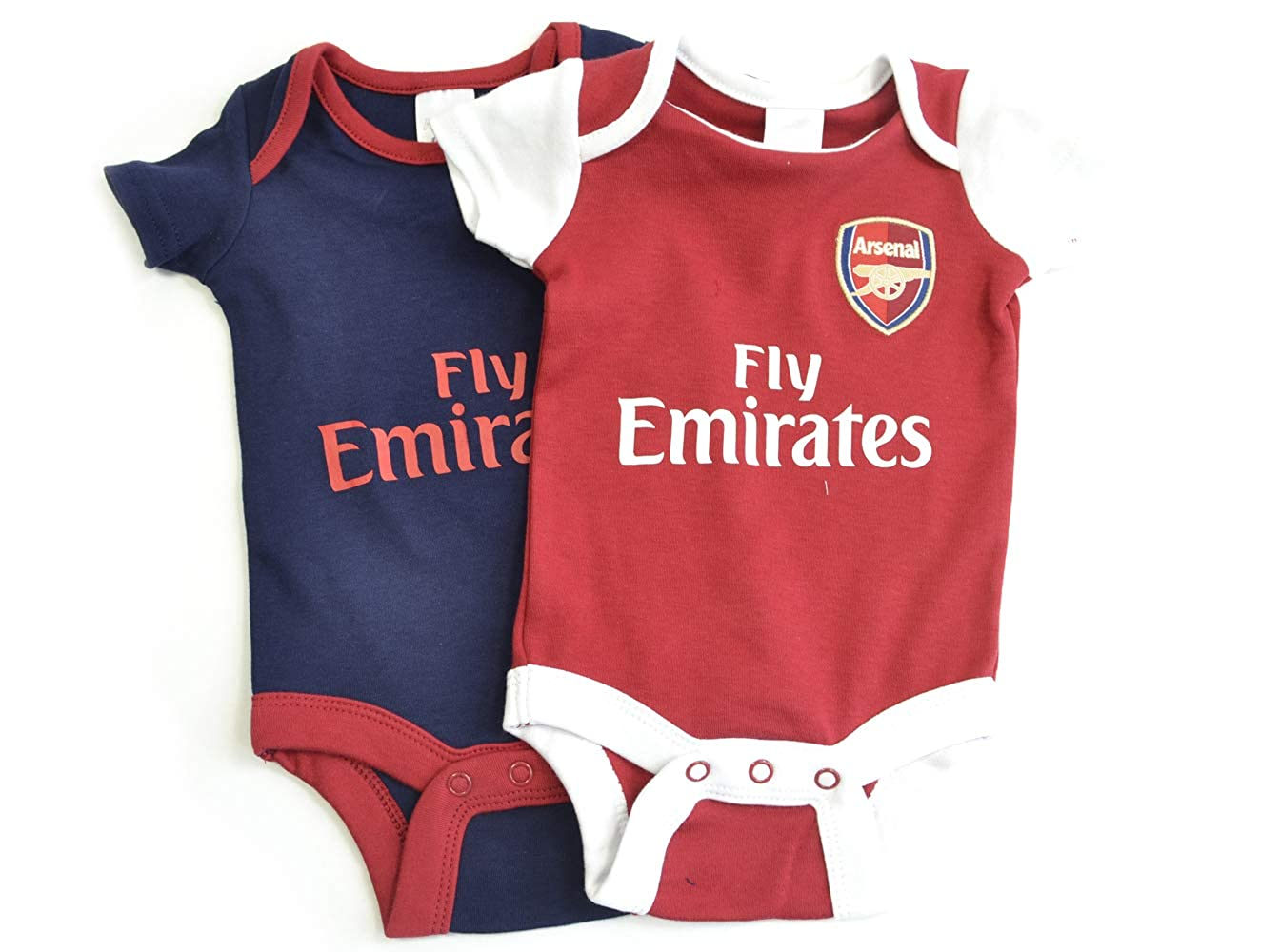 2f0f8b3b8 Arsenal Baby KIT Body Suits Baby Vests 2 Pack Home   Away New Season KIT  2018 19  Amazon.co.uk  Clothing