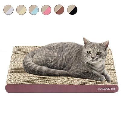 AMZNOVA Cat Scratch Lounge, Durable Cardboard, Colors Series, Wide, Wood Floor Print