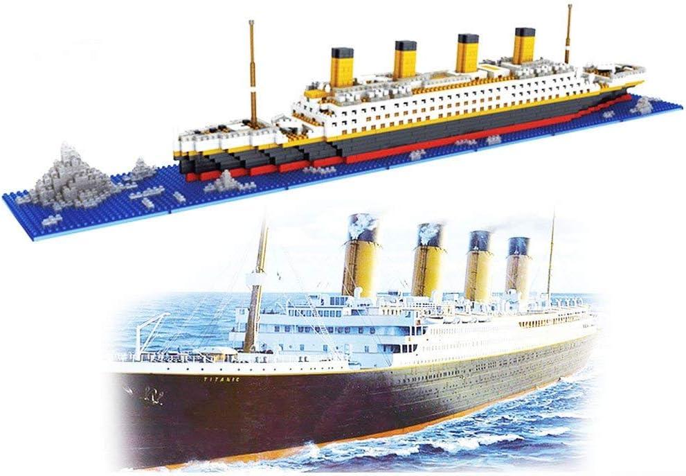 dOvOb Micro Mini Blocks Titanic Model Building Set, 1872 Piece Mini Bricks Toy, Gift for Adults and Kids