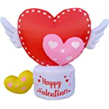 Amazon.com: Oso de peluche hinchable con diseño de corazón ...
