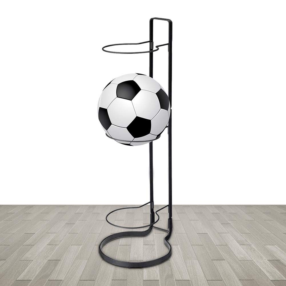 3-Ball Capacity Innovative Indoor Removable Display Stand for Volleyball Football Ball Sports Accessories /& Fitness dissylove Sports Ball Rack