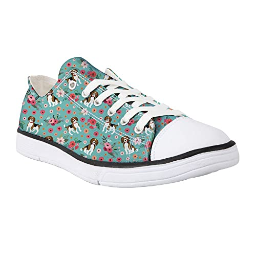 3b5817be462a9 Showudesigns Animal Ladies Canvas Shoes Womens Casual Lace Up ...