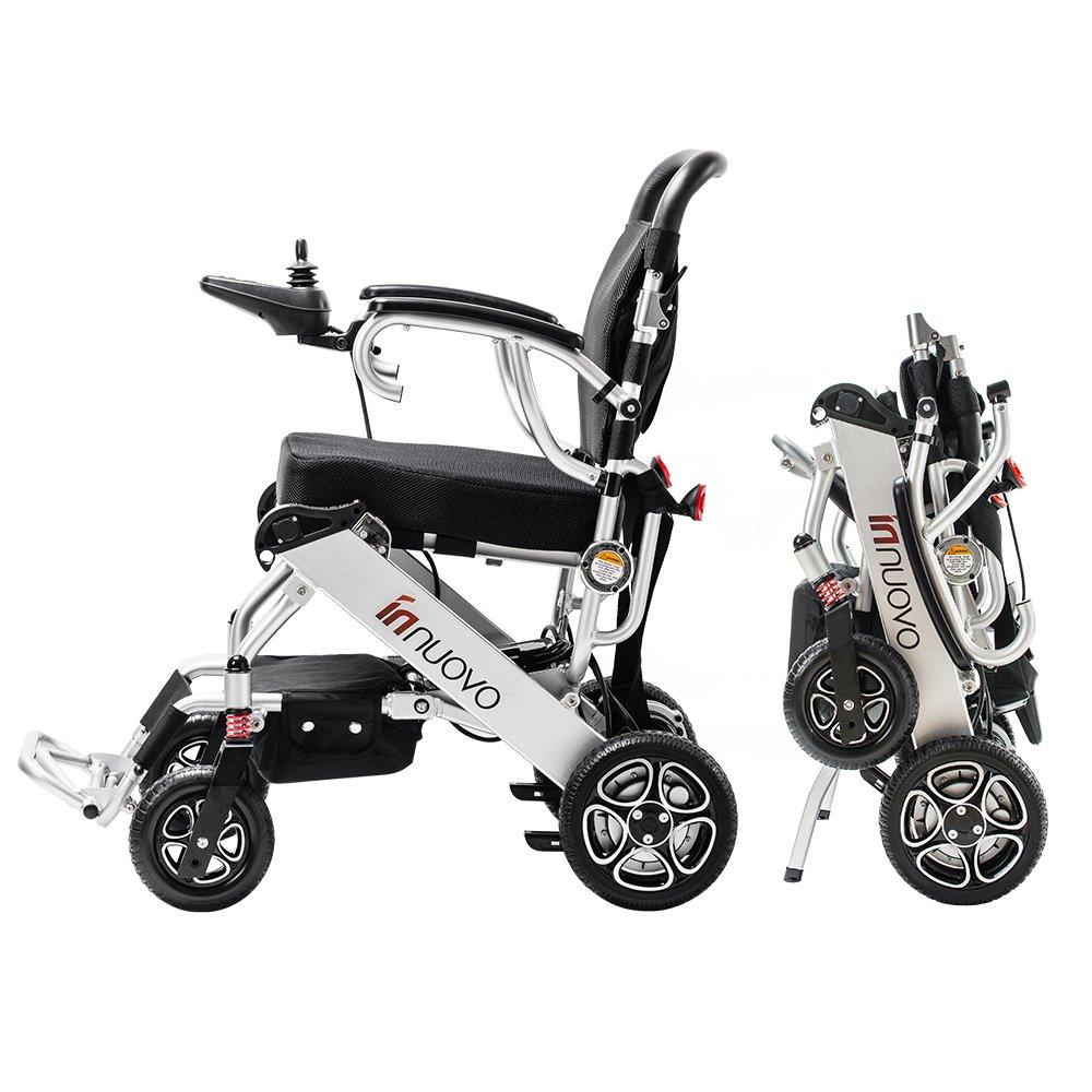 2018 NEW FDA Approval Electric Power Wheelchair – weighs only 50 lbs with battery – supports 295 lb. New upgraded with more secure and stable.