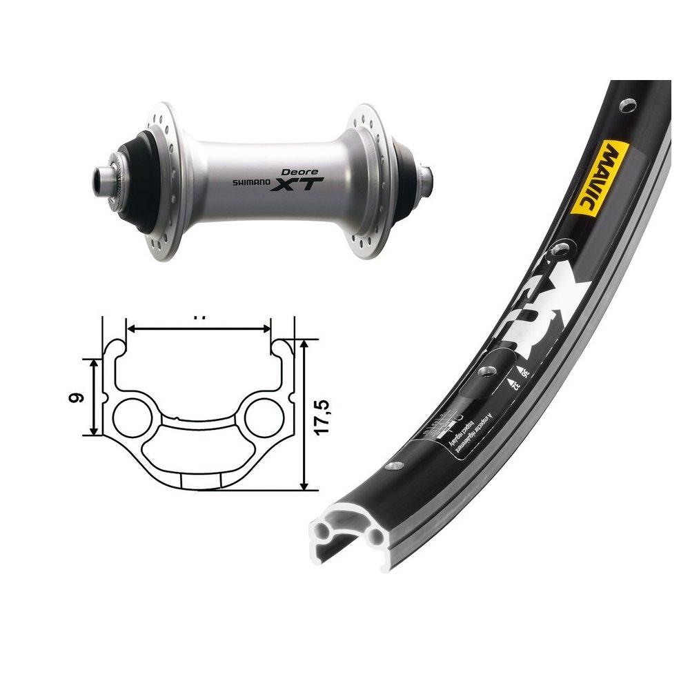 Bike-Parts 26´´ Vorderrad Mavic XM 117 + Shimano Deore XT (QR)