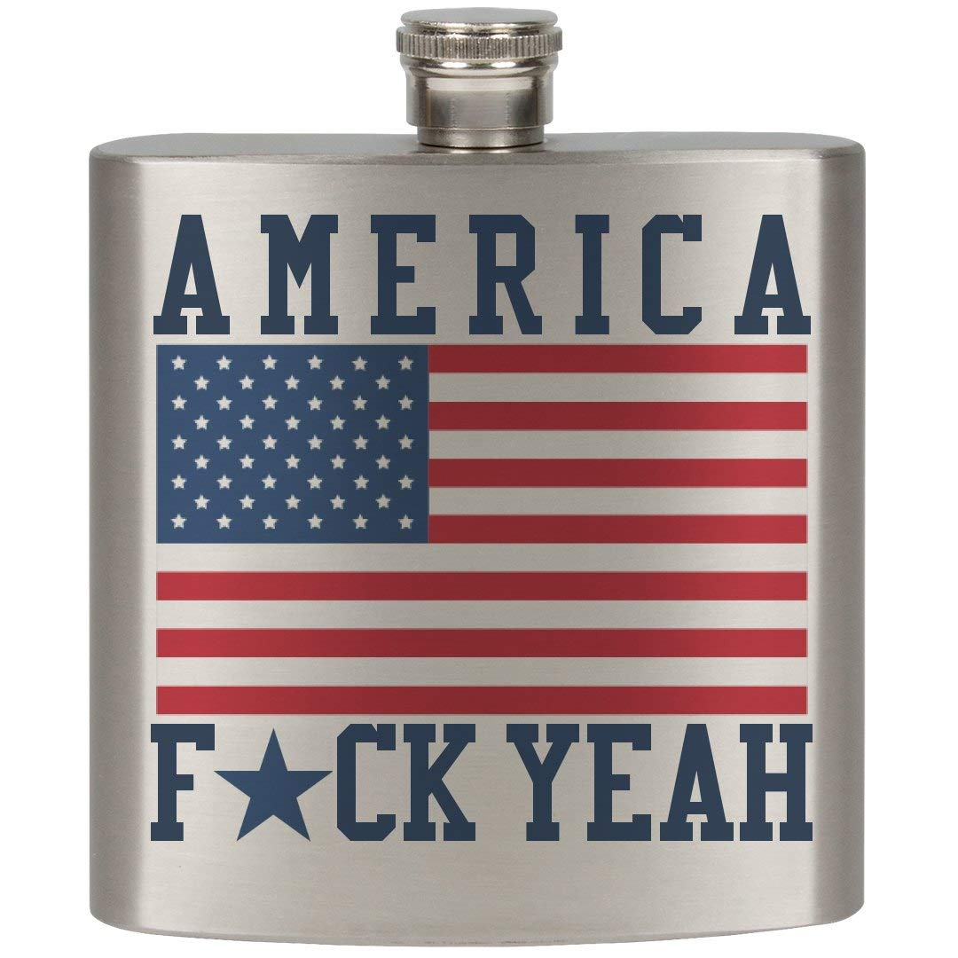America Fuck Yeah: 6oz Stainless Steel Flask