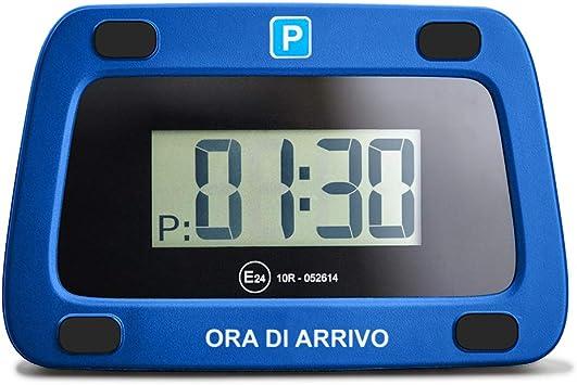 Achilles Parkwächter Digitale Parkscheibe Für Italien Entspricht Der Straßenverkehrsordung Elektronische Parkuhr Für Das Auto In Blau 111 X 72 X 25 Mm Auto
