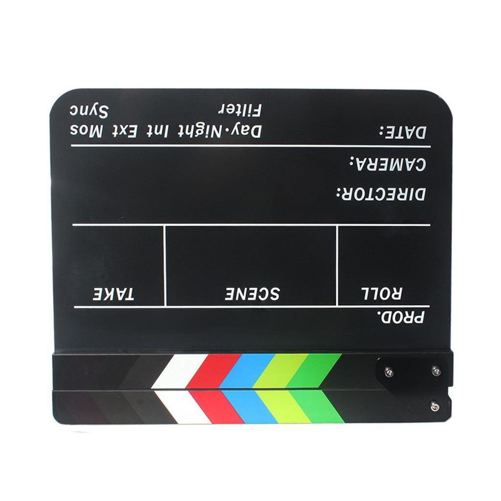 Homyl Claqueta Cine Profesional de 300 x 245 x 3 mm F/ácil de Limpiar,Claqueta para Pel/ícula Claqueta Negra Series de TV Transmisi/ón en Vivo
