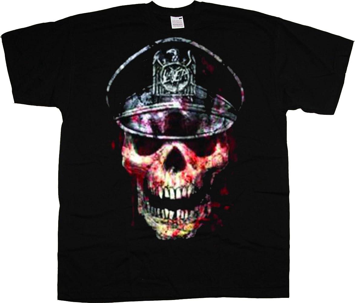 Slayer Hell Skull Tom Araya Thrash Metal 2 Oficial Camiseta para Hombre (Small): Amazon.es: Ropa y accesorios