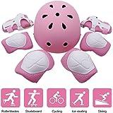 Skateboard-Set for Kinder von EarthSafe, zum Rollschuhfahren, BMX Fahren, Radfahren, oder Skateboard fahren, mit Helm, Knie- und Ellenbogensch tzern for Ihre Sicherheit (Ellbogensch ftzer + Kniesch ftzer + Handgelenkschoner + Helm), rose