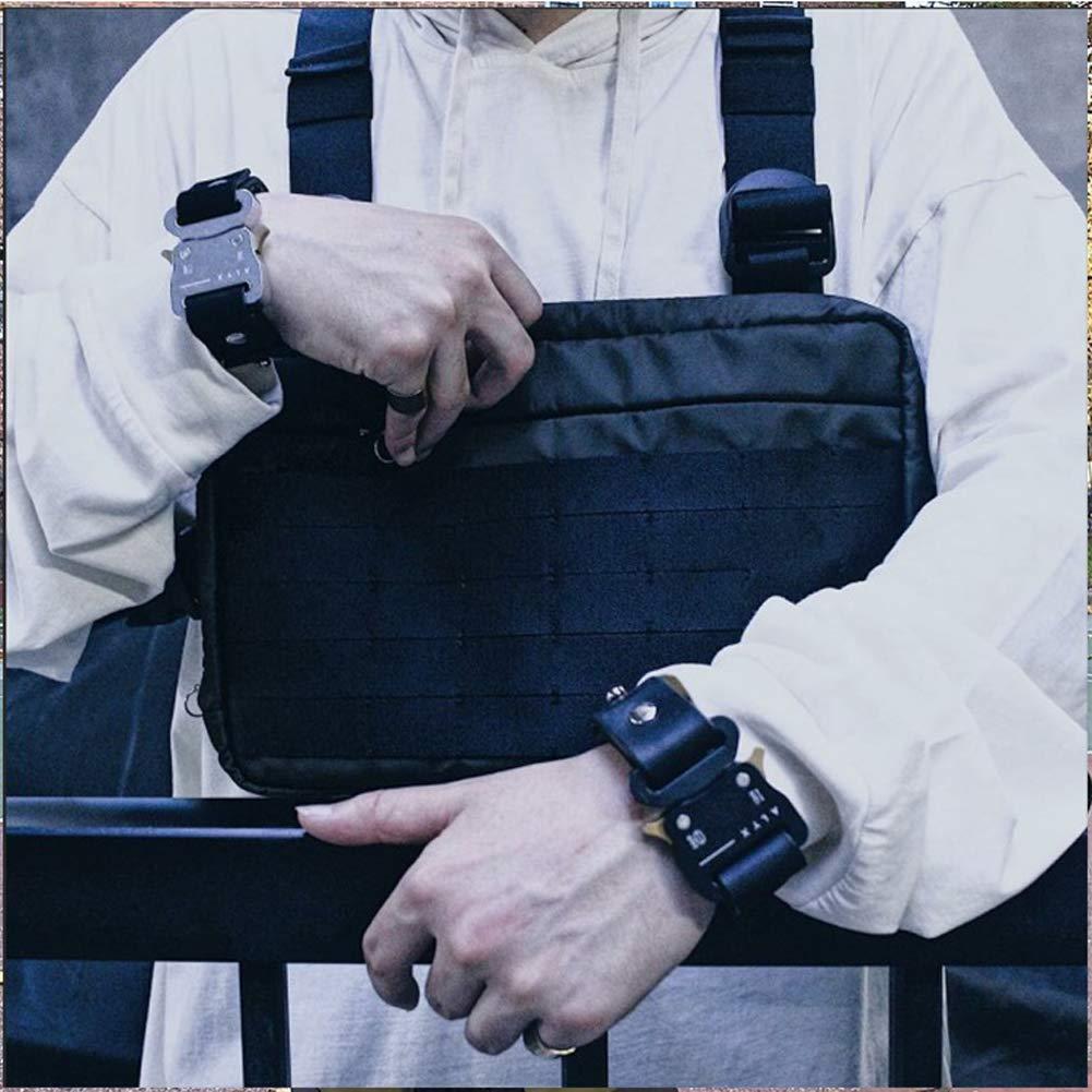 Harddo M/änner Frauen Umh/ängetaschen Chest Rig Bag Hip Hop Streetwear M/änner Funktionelle H/üfttaschen Verstellbare Taschen Weste