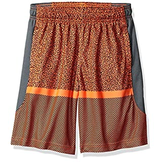 Under Armour Baseline Shorts, Orange Glitch//White, Youth Medium