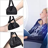 lucky3 Airplane Footrest, Adjustable Travel Accessories Memory Foam Foot Hammock Under Desk for Airplane Office Home