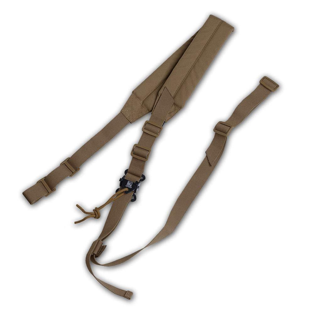 Acolchada Longitud Ajustable Resistente Acolchada KRYDEX Correa para Rifle t/áctica de 2 Puntos