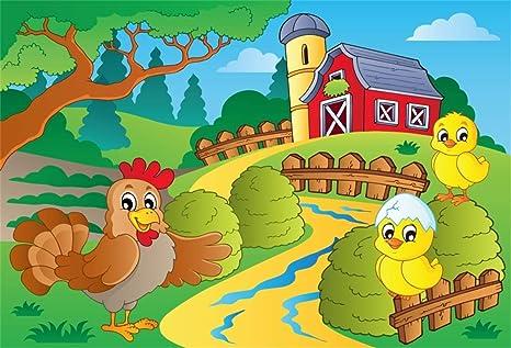 Amazon Com Leyiyi 10x6 5ft Cartoon Farm Theme Backdrop