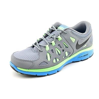 9ee0289fa35 NIKE Dual Fusion Run 2 Youth Boys Gray Mesh Sneakers Shoes Size UK 6 ...