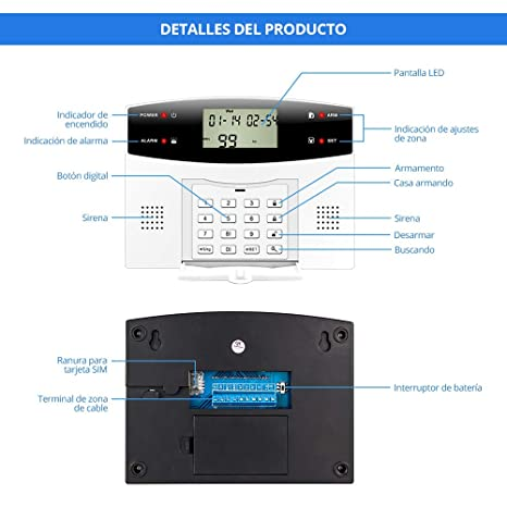 Fuers - G2 Kit sistema de alarma de casa alarma antirrobo ...