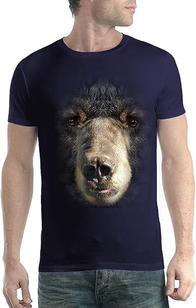 Oso Negro con Cabeza de Gueule Animal - Camiseta XS-5XL Azul ...