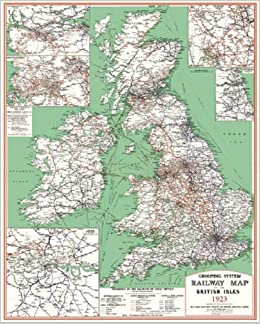 Railway Grouping System Map of the British Isles 1923 Rolled for