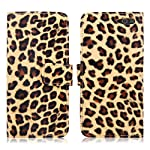 Cellularvilla Wallet Case for Amazon Fire Phone Pu Leather Wallet Card Flip Open Pocket Case Cover Pouch + Stylus Touch Pen (Brown Leopard)