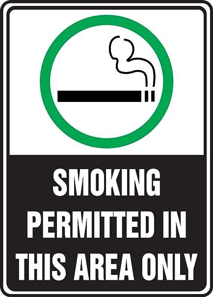 Amazon.com: Fumar permitido en esta área solamente (W ...